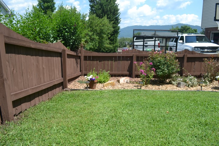 Fence treated with Sta Brite R